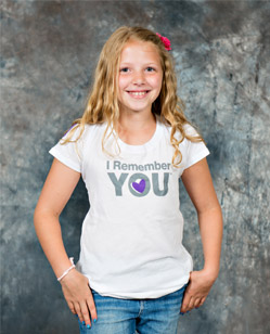 Girl in IRY t-shirt